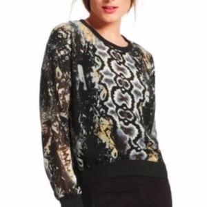 Cabi Dressed Up Sweatshirt Python Style #572 Sz M